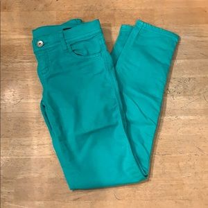 Benetton Colored Teal Turquoise Jeggings